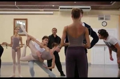 Vaganova Ballet Academy  students are rehearsing The Nutcracker for Christmas
